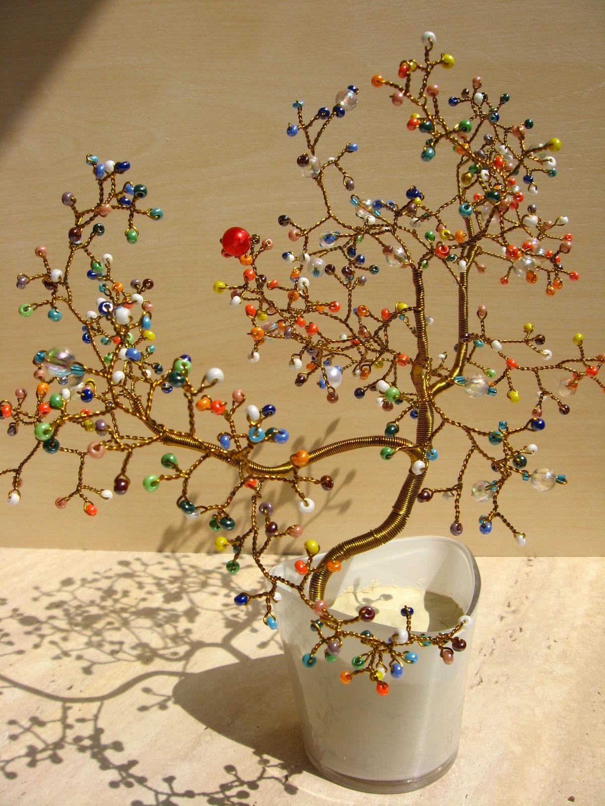 Деревья из бисера в фото